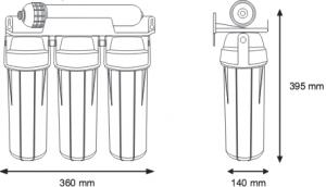 FILTRO UF4 ALCALIN, sistem de ultrafiltrare si alcalinizare