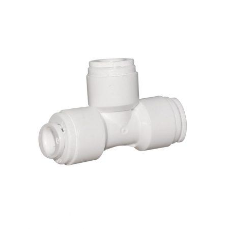 """Conector TEU de 1/4"""", cu mufe rapide, pentru furtun de 6 mm"""